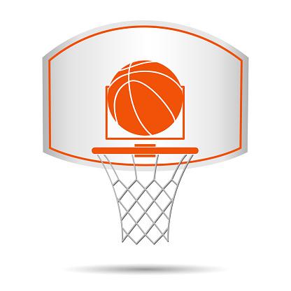 Basketball basket, hoop, ball