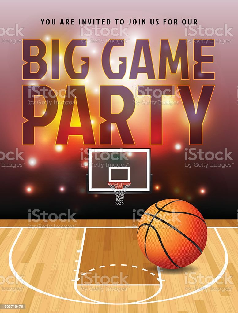 Basketball Big Game Party Illustration vector art illustration