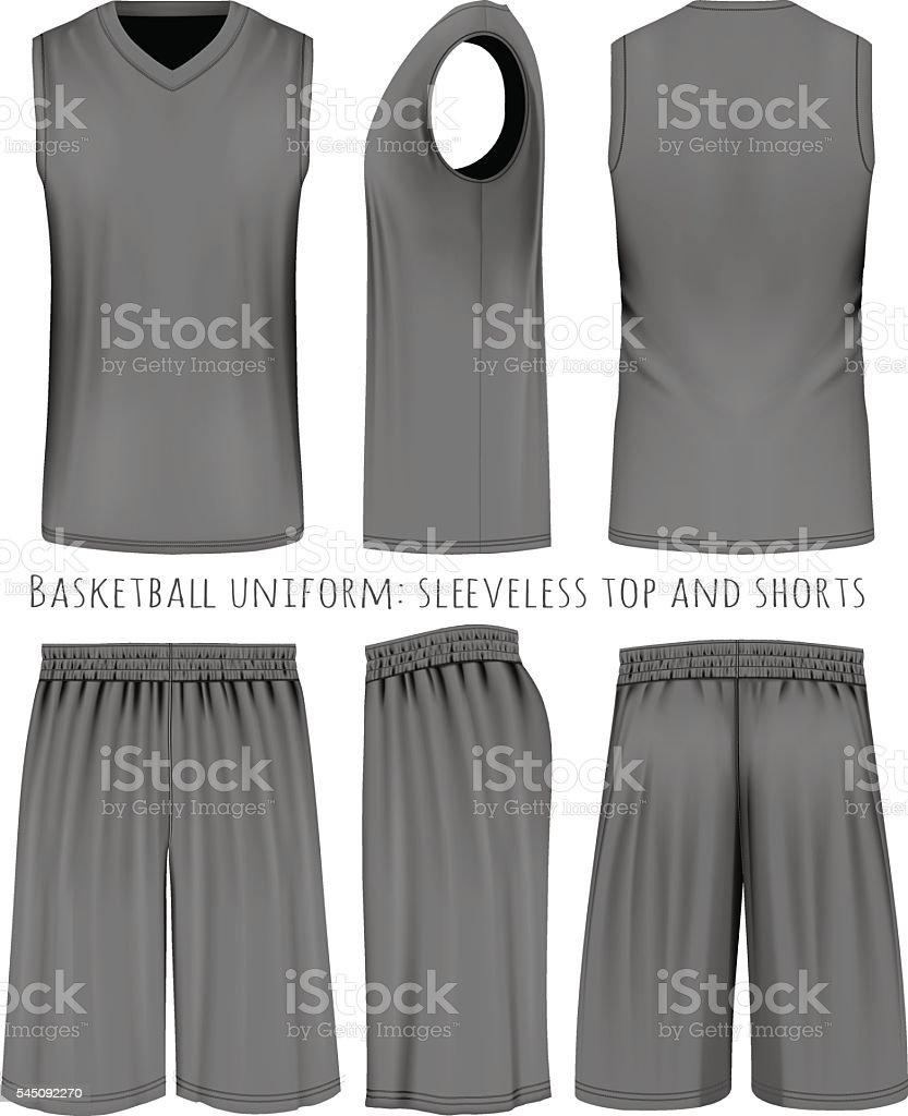 Basketball black uniform vector art illustration