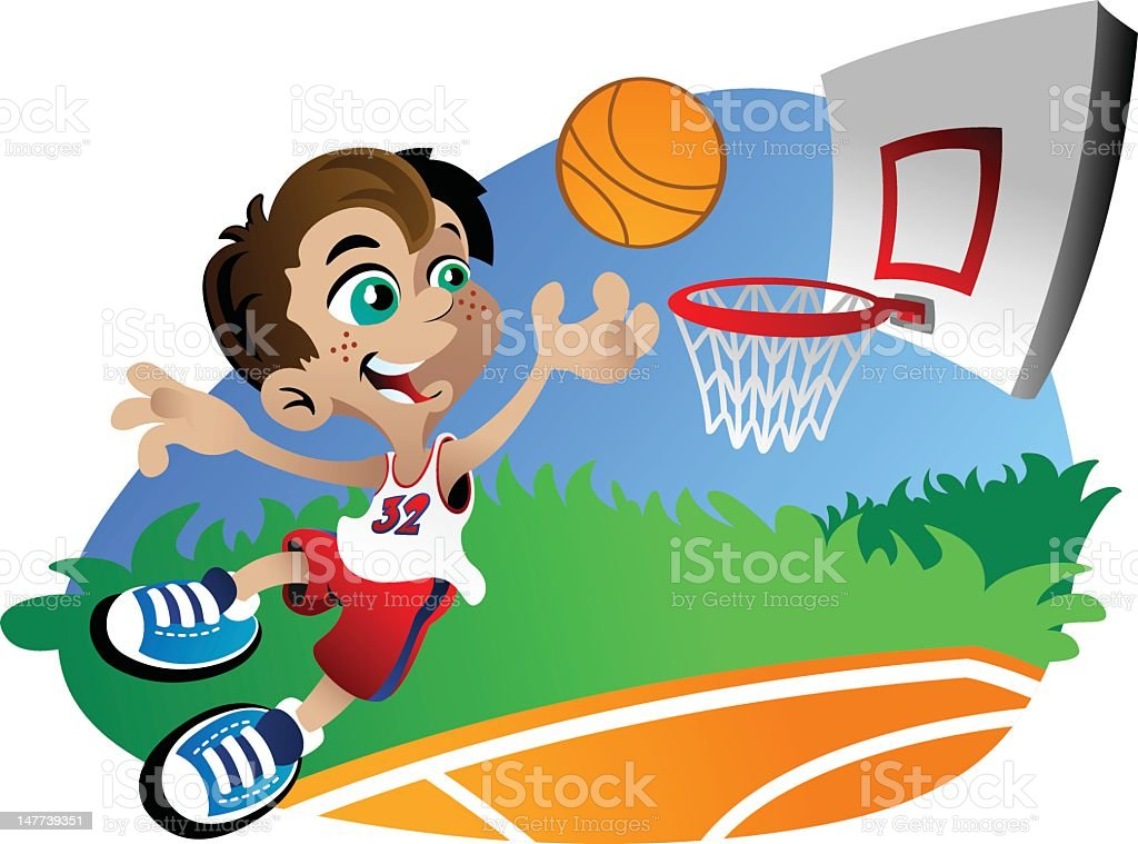 Basketball Boy vector art illustration