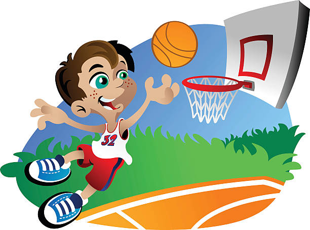 Basketball Boy vector art illustration
