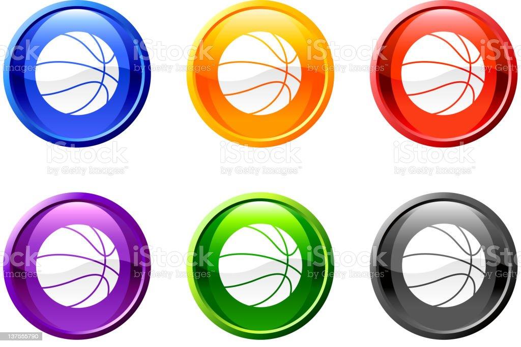 basketball button royalty free vector art vector art illustration
