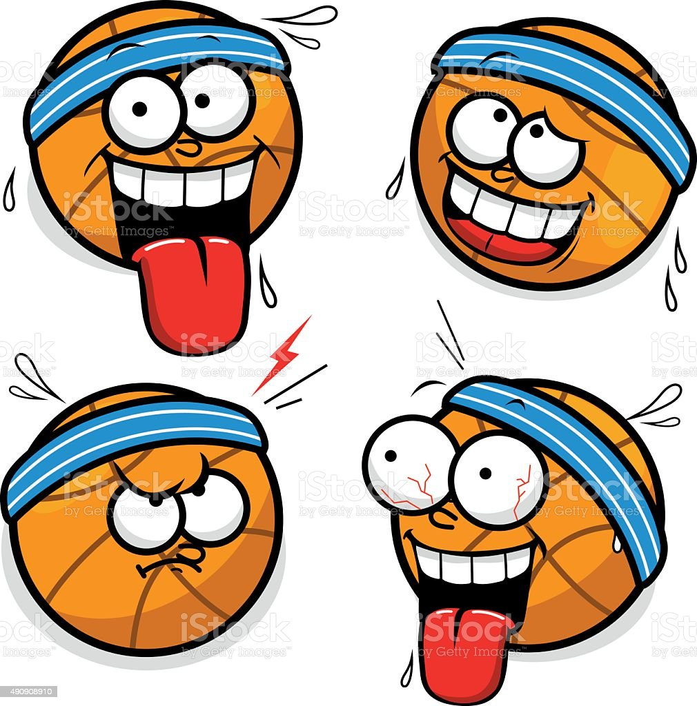 Basketball Cartoon Faces Stock Illustration Download Image Now Istock