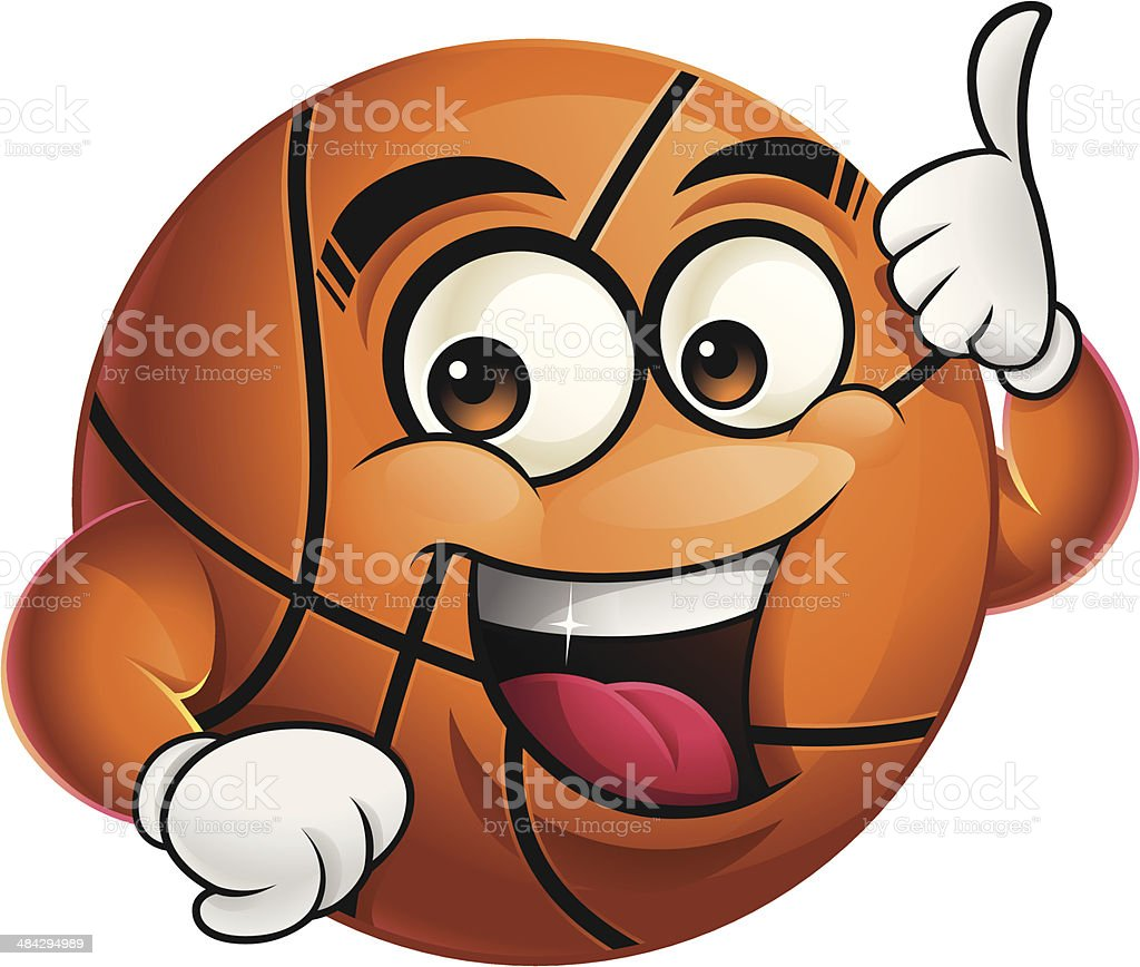 Basketball Cartoon - Thumbs Up royalty-free basketball cartoon thumbs up stock vector art & more images of agreement