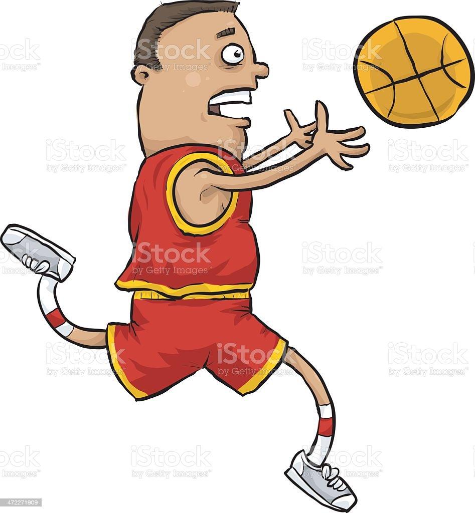Basketball Catch royalty-free stock vector art