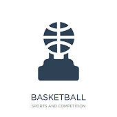 basketball champion icon vector on white background, basketball champion trendy filled icons from Sports and competition collection, basketball champion vector illustration