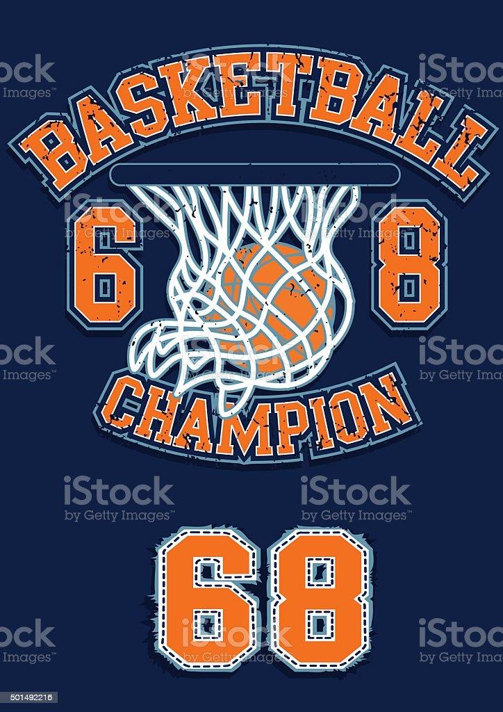 Basketball Champion vector art illustration