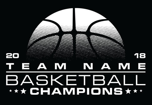 basketball-champions design mit teamnamen - basketball stock-grafiken, -clipart, -cartoons und -symbole
