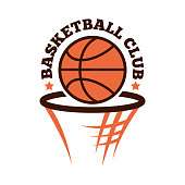 Basketball championship badge vector.