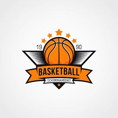 Basketball championship logo emblem and badges design template