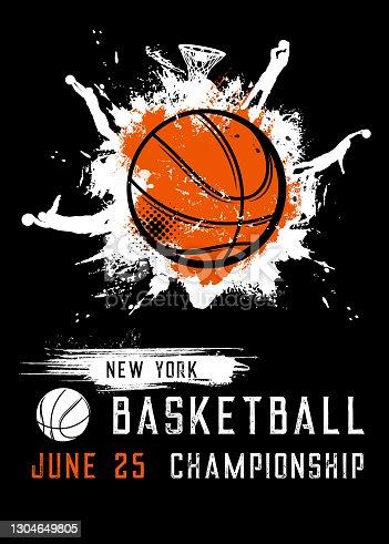 istock Basketball championship sport league vector flyer 1304649805
