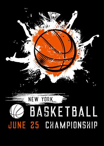 Basketball championship sport league vector flyer