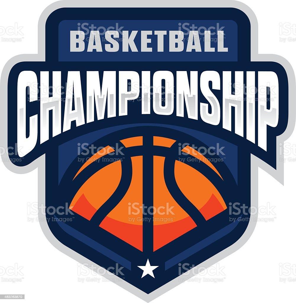 Basketball Championship vector art illustration