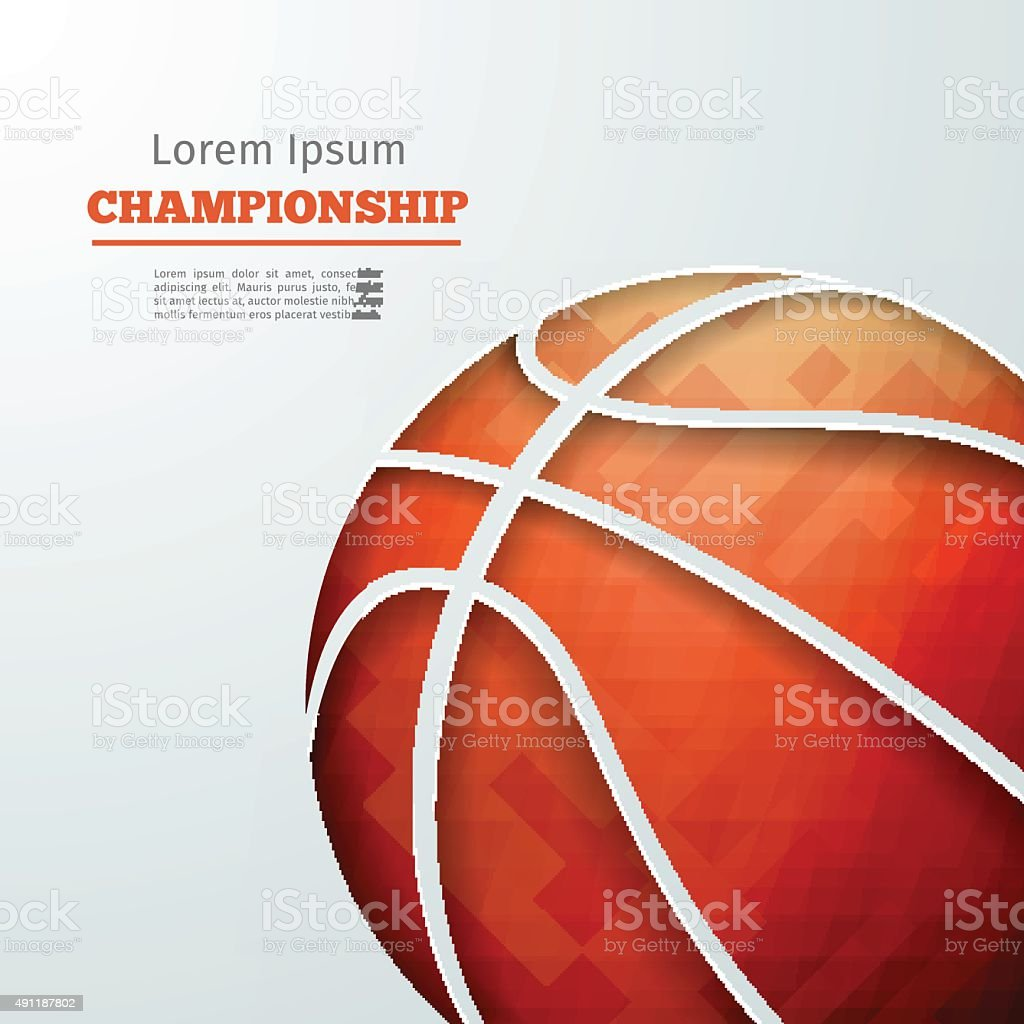 Championnat de basket-ball - Illustration vectorielle