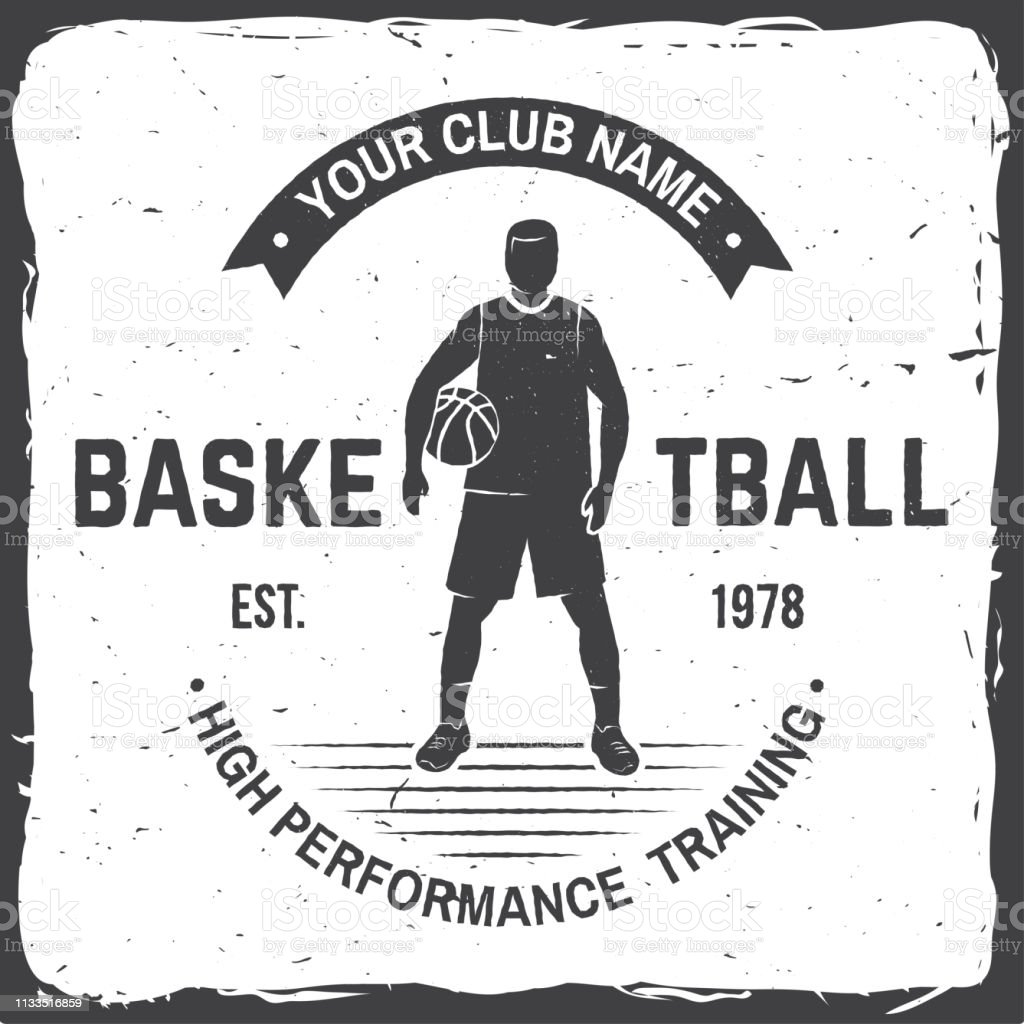 low priced de883 d4eb2 Basketball Club Abzeichen Vector Illustration Konzept Für ...
