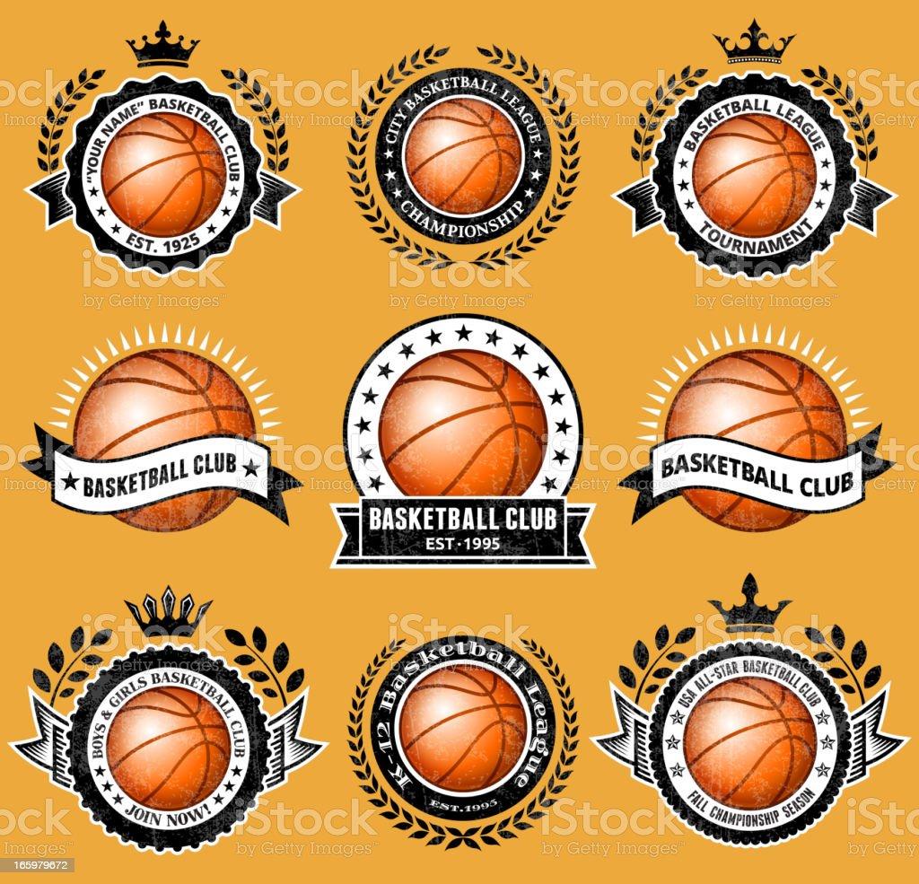 Club de baloncesto de Grunge de tarjeta - ilustración de arte vectorial