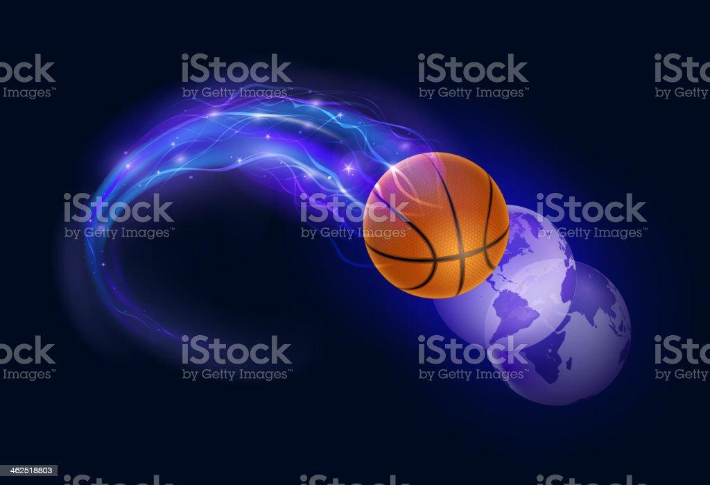Basketball comet vector art illustration