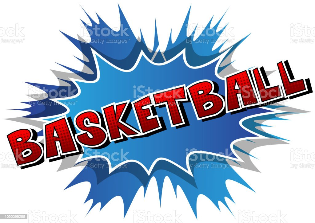 basketball comic book style word stock vector art more images of
