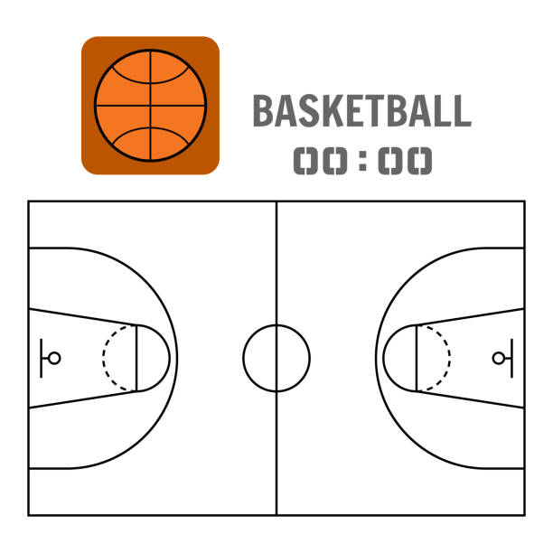 Royalty free basketball court floor texture clip art for Basketball court plan