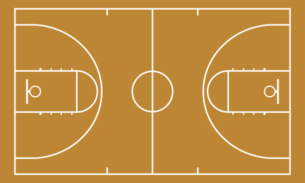 Basketball court. Background for sport strategy. Realistic vector illustration. Basketball court. Background for sport strategy. Realistic vector illustration. basketball stock illustrations