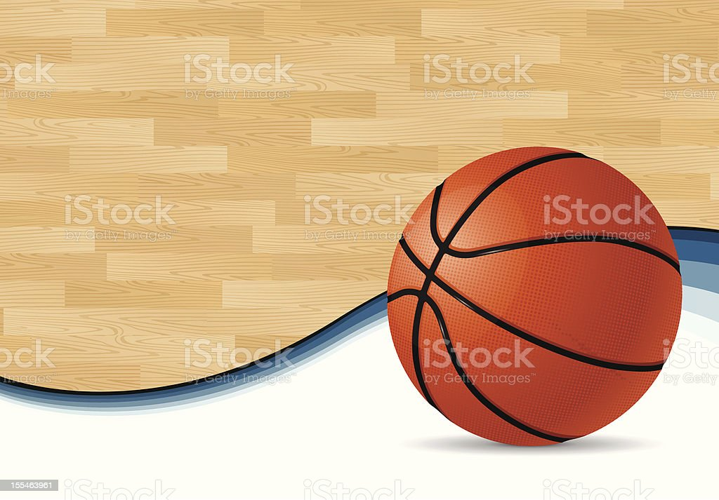 Basketball Court Background vector art illustration