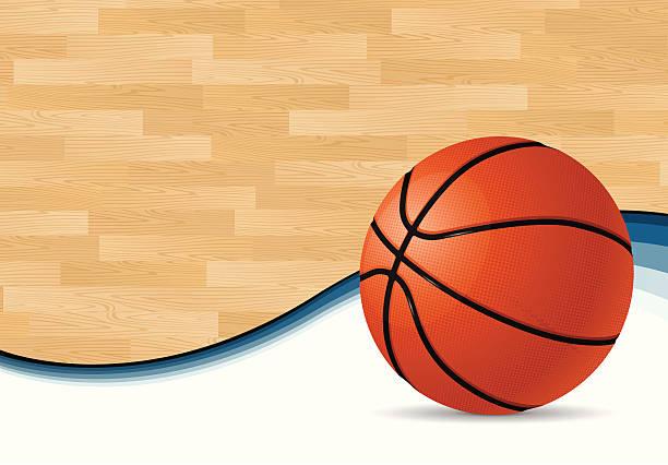 Basketball Court Background vector art illustration