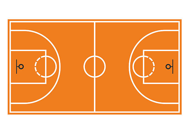 Basketball court. Field isolated on white background vector art illustration