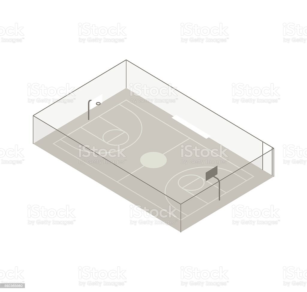 Basketball court illustration vector art illustration