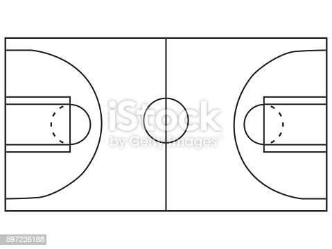 Campo da basket illustrazione illustrazione 597236188 istock for Campo da basket regolamentare