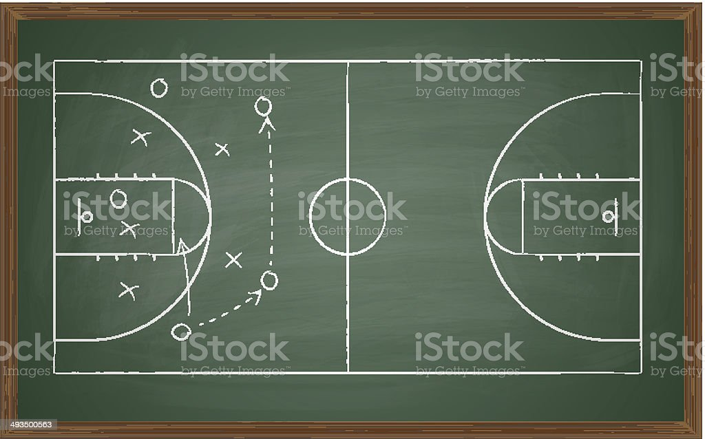 basketball court on board vector art illustration