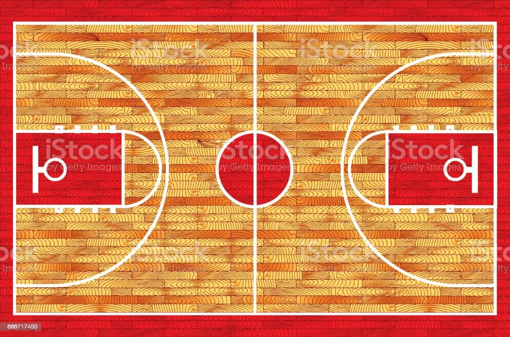 Basketball court. Realistic vector illustration vector art illustration