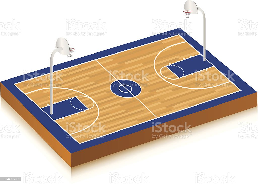 Basketball Court royalty-free basketball court stock vector art & more images of ball