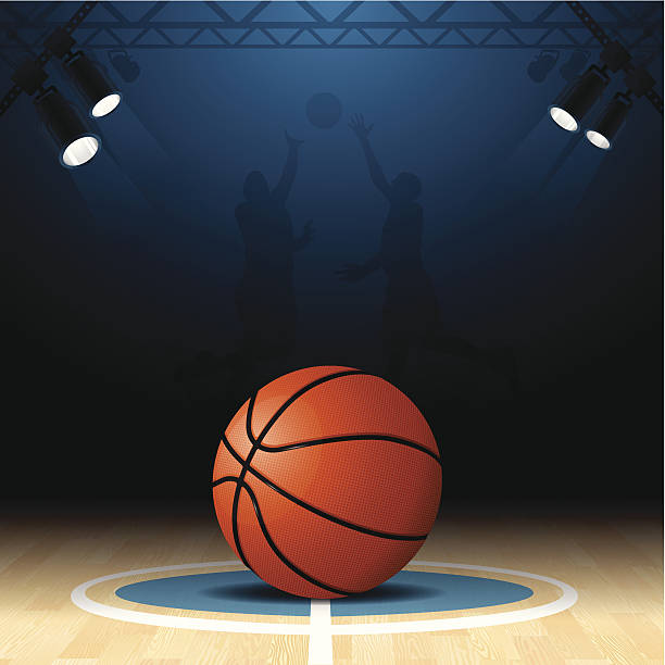 Basketball Court vector art illustration
