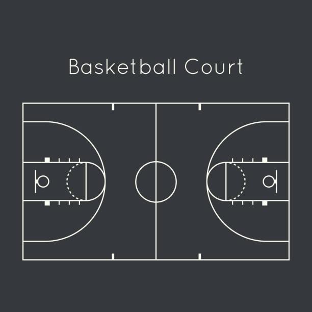 Basketball court向量藝術插圖