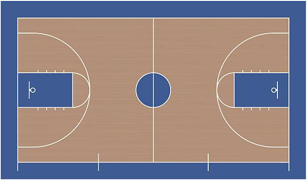Royalty Free Empty Basketball Court Clip Art, Vector ...