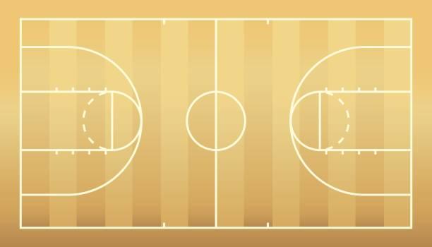 籃球場向量藝術插圖