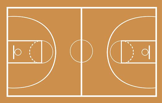 basketball court vector illustration