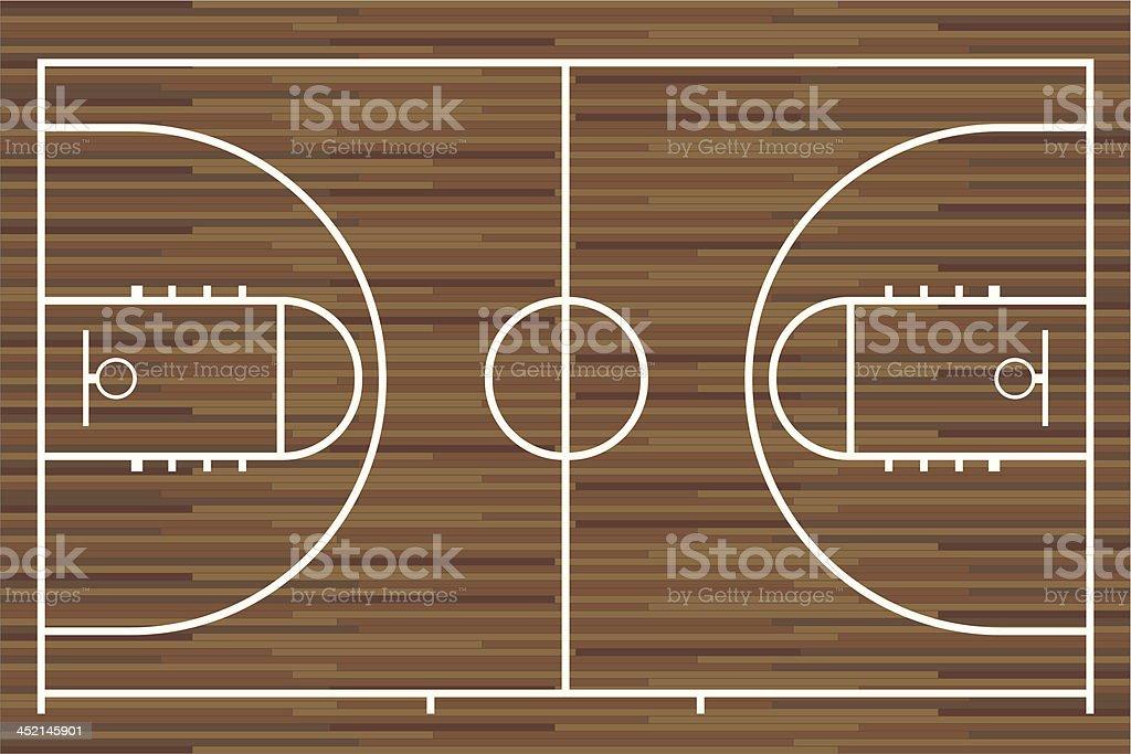 Basketball court. Vector vector art illustration