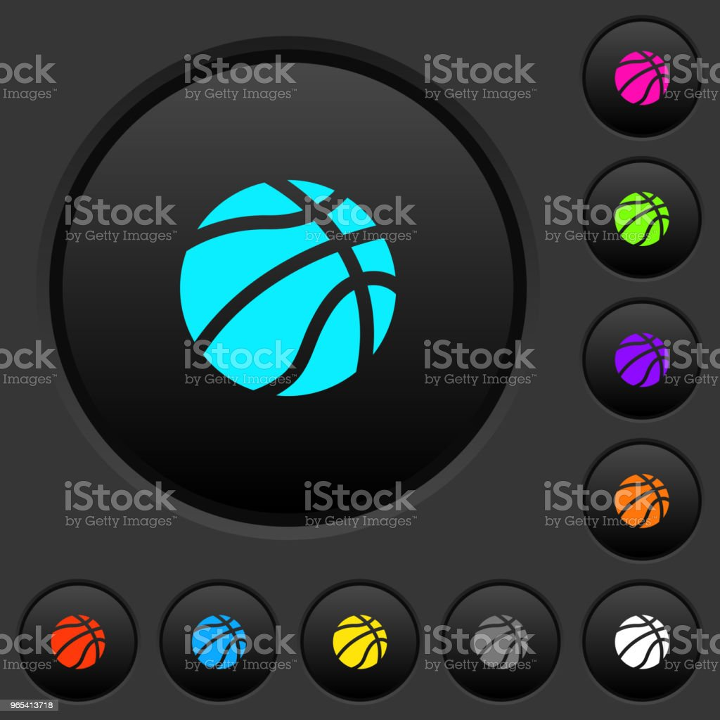 Basketball dark push buttons with color icons basketball dark push buttons with color icons - stockowe grafiki wektorowe i więcej obrazów czynność royalty-free