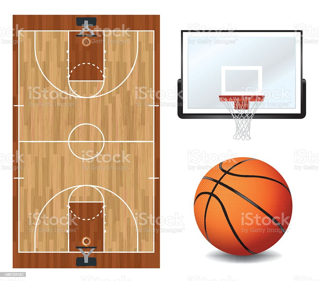 Basketball Design Elements Illustration vector art illustration