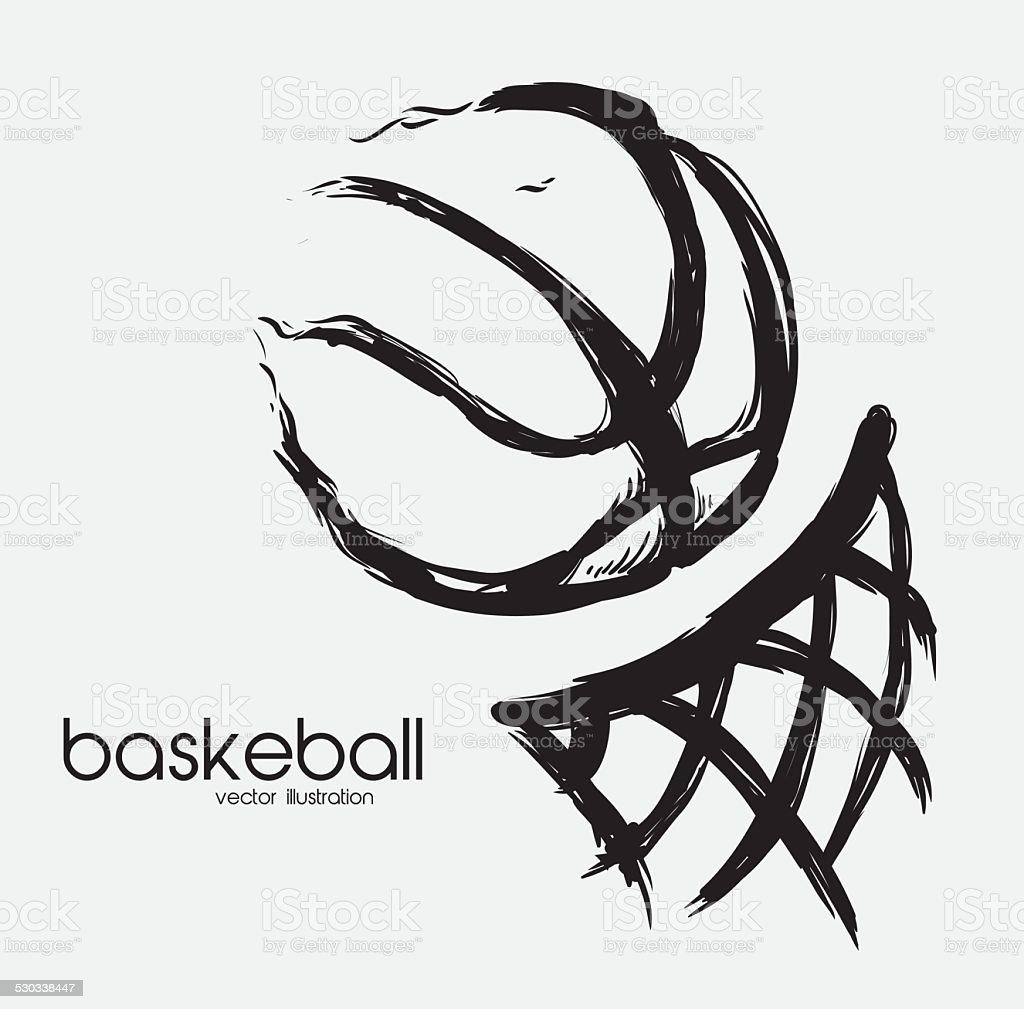 basketball design, vector illustration eps 10 graphic vector art illustration