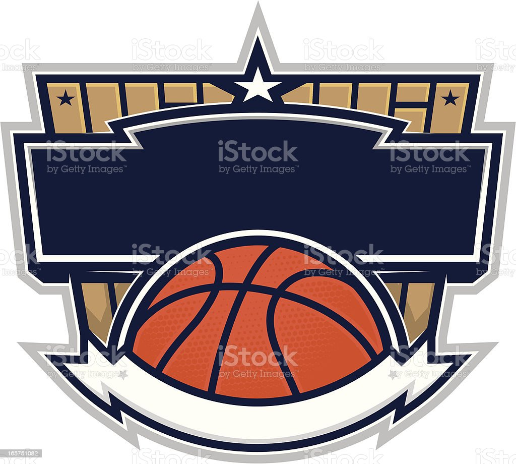 Basketball Design with Basketball court. royalty-free stock vector art