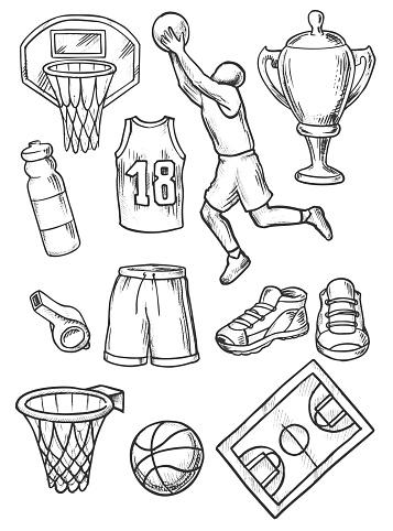 Basketball Doodles Set