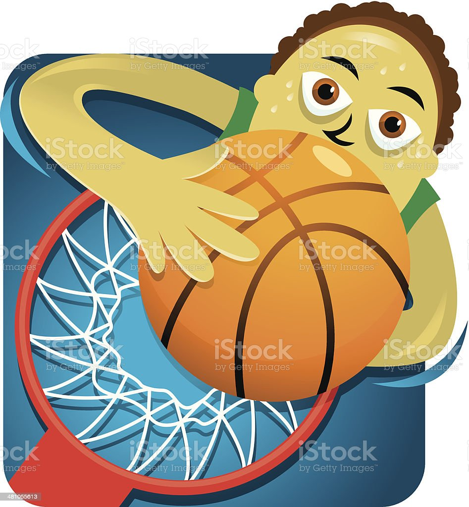 Basketball Dunk C vector art illustration