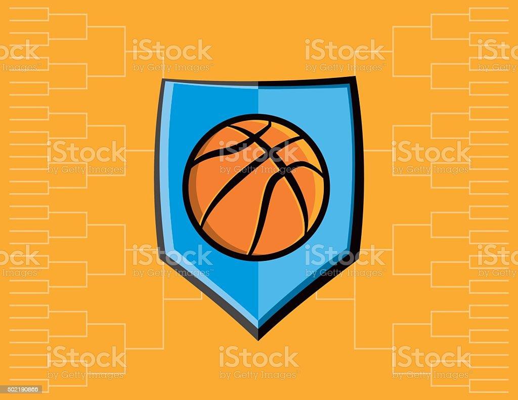 Basketball Emblem and Tournament Background vector art illustration