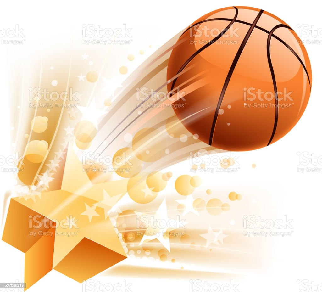 Emoción de baloncesto - ilustración de arte vectorial