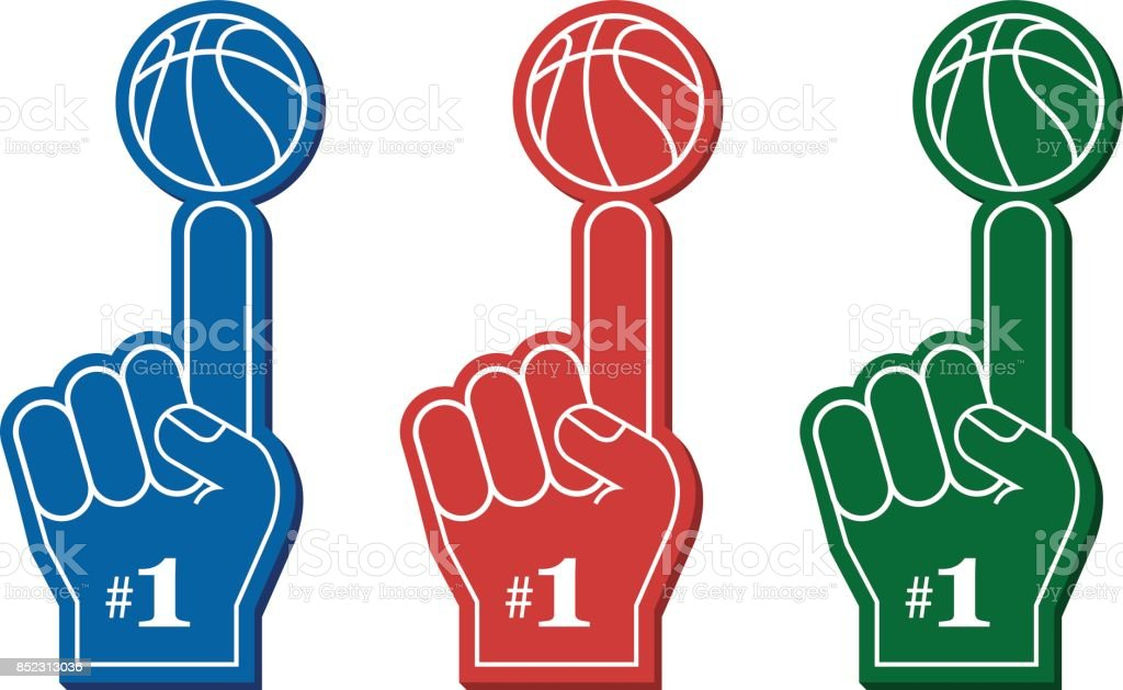 foam finger clipart. red foam finger, vector illustration royalty-free finger clipart