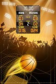 drawing of vector basketball scoring sign.This file was recorded with adobe illustrator cs4 transparent.EPS10 format.