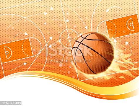 istock basketball fire field 1297602498