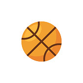 Basketball Flat Icon. Pixel Perfect. For Mobile and Web.